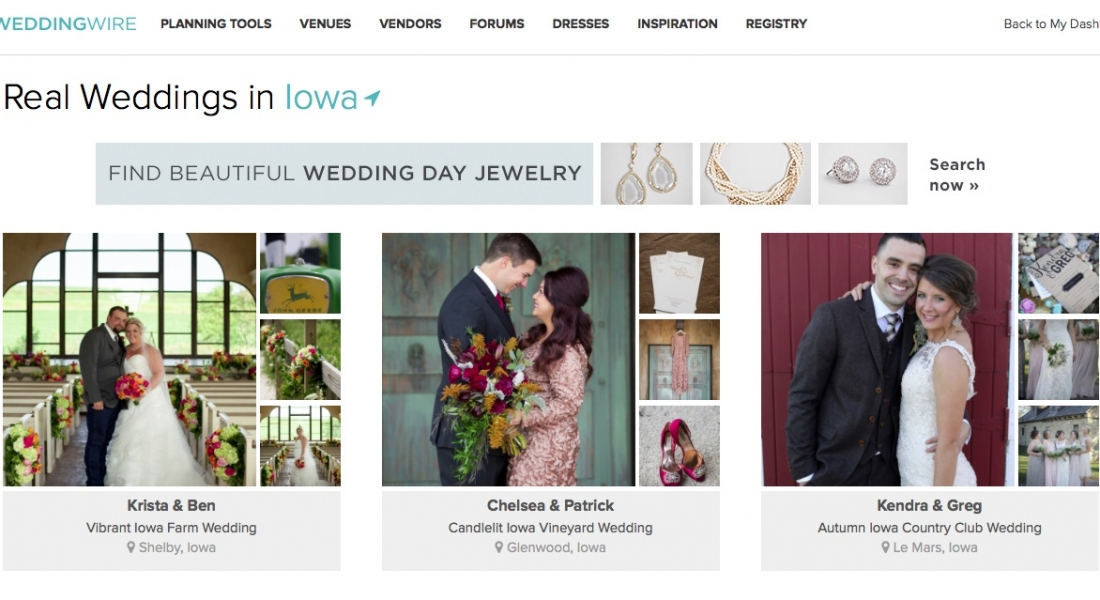 0b593e9554ad Feature Your Wedding on Wedding Wire